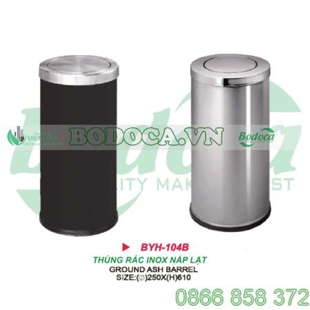 Thùng rác inox nắp lật giá rẻ BYH-104B