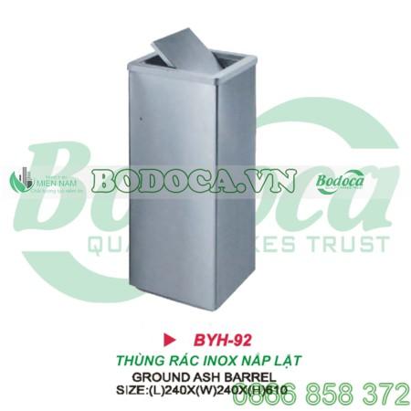 Thùng rác inox nắp lật BYH-92