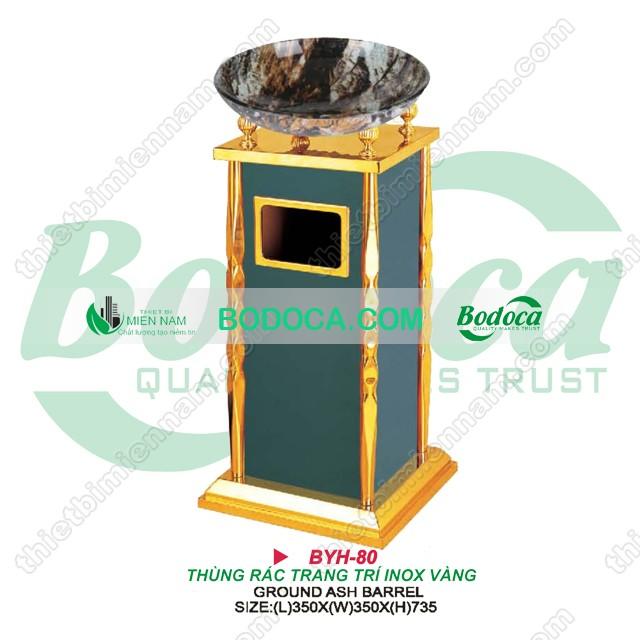 Thùng rác inox vàng giá rẻ