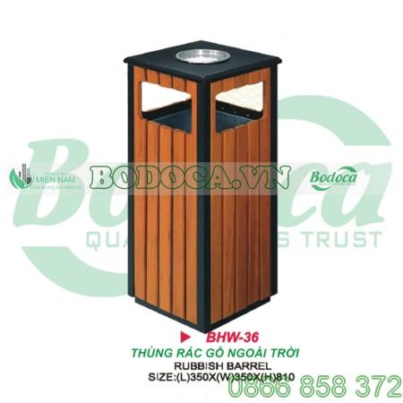 Thùng rác ngoài trời bằng gỗ giá rẻ