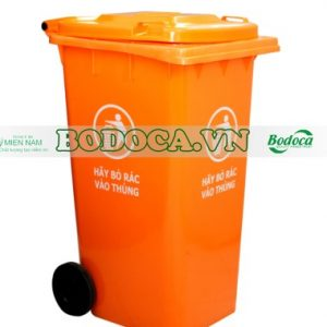 Thùng rác nhựa 240l màu cam giá rẻ tại sài gòn